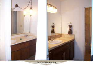 Quick bathroom remodel.