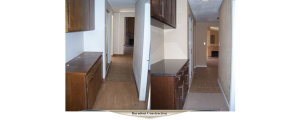 New cabinetry, a granite counter