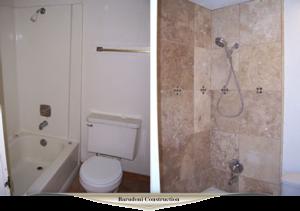 New tile and new plumbing fixtures
