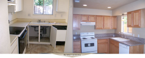 One week kitchen remodel.