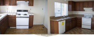 New counter tops, new flooring