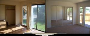 New windows, new closet doors