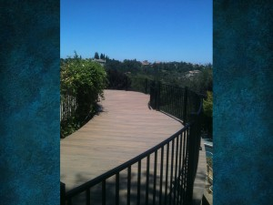 Curved Hill Side Deck with Rounded Railing 2
