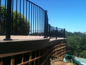 Curved Hill Side Deck with Rounded Railing 4