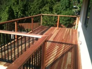 Redwood Balcony Deck