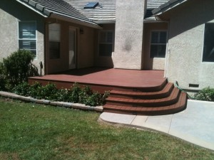 Rounded Steps and Deck