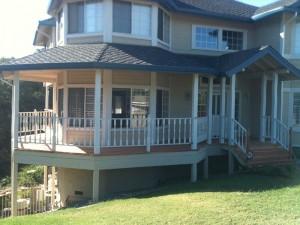 Wrap around redwood deck in Folsom CA