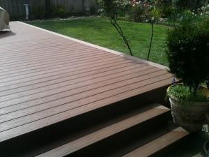 Composite backyard deck. Sacramento, CA