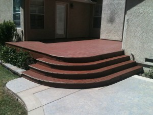 Rounded composite deck and steps Grainte Bay CA