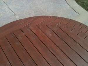 Artist rounded deck and steps. Granite Bay, Ca