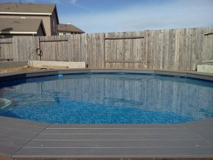 Composite pool decking. Elk Grove, CA