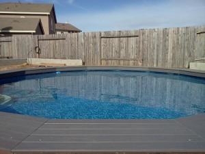 Composite pool decking. Elk Grove, CA