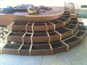 Framing of composite curved deck. Granite Bay CA