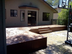 Raised composite Deck. Grainte Bay CA