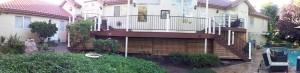 Muli-level composite Deck. Grainte Bay CA