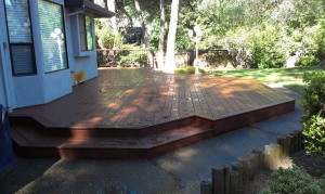Timber Tech composite picture framed deck. Grainte Bay CA