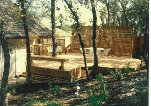 Redwood deck & privacy screen. El Dorado Hills CA
