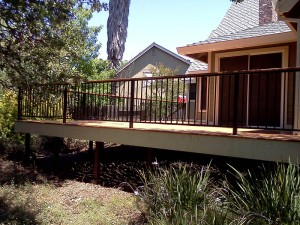 Timber Tech deck and railing. Fair Oaks CA