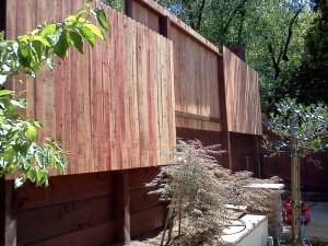Retaining wall & Fence. Folsom CA