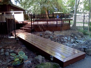 Backyard composite Deck. Fair Oaks CA