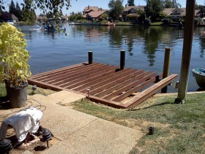 Dock construction. Elk Grove CA