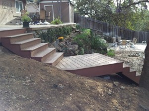 Composite deck & staircase. Fair Oaks, CA