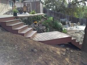 Composite deck & staircase. Fair Oaks, CA