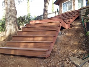 Timber Tech Composite Stairway, Fair Oaks, CA