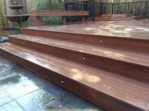 Raised composite Deck.