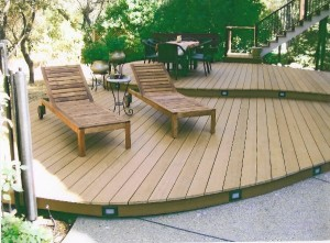 Curved Trex Composite Deck, Granite Bay, CA