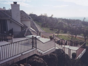 Multi- level Trex Composite Deck. El Dorado Hills, CA