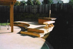 Curved Redwood Deck & Patio Cover. Folsom, CA