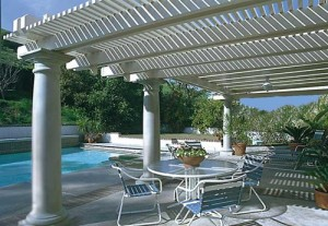White Aluminum Patio Cover. El Dorado Hills, CA