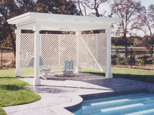 Douglas Fir White Patio Cover, Granite Bay, Ca