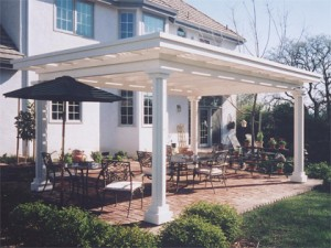 White wood patio Cover, Grainte Bay, Ca