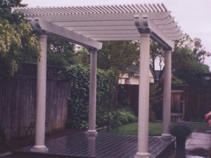 White Aluminum Patio Cover. Fair Oaks, CA