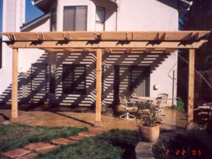 Redwood Patio Cover. Roseville, CA